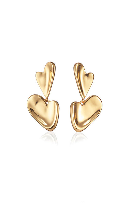 Layla Heart Drop Earrings Jenny Bird