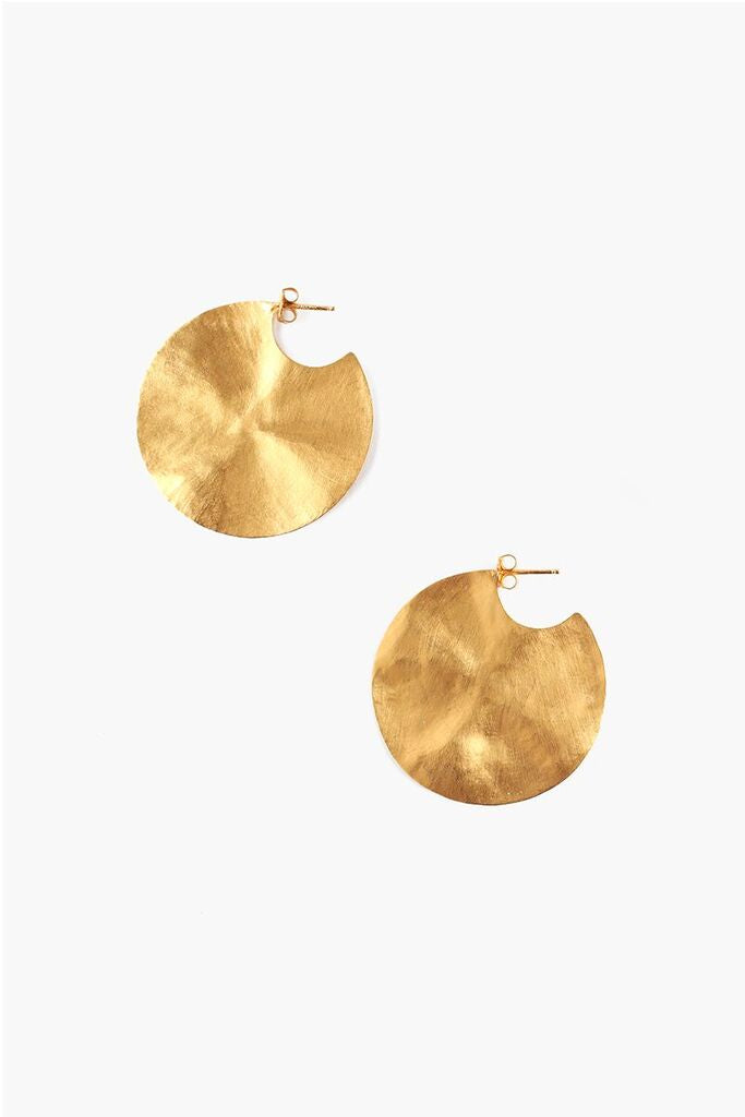 Hammered Cymbal Earring