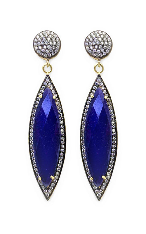Blue Sapphire Marquise Earring Valentine Rogue