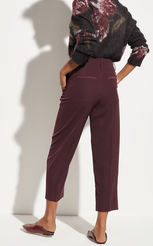 Straight Leg Cropped Pant