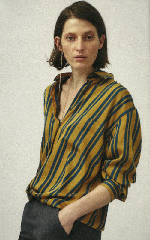 Stripe Viscose Shirt Xacus