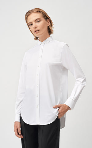 Xacus Mini Collar Cotton Stretch Shirt