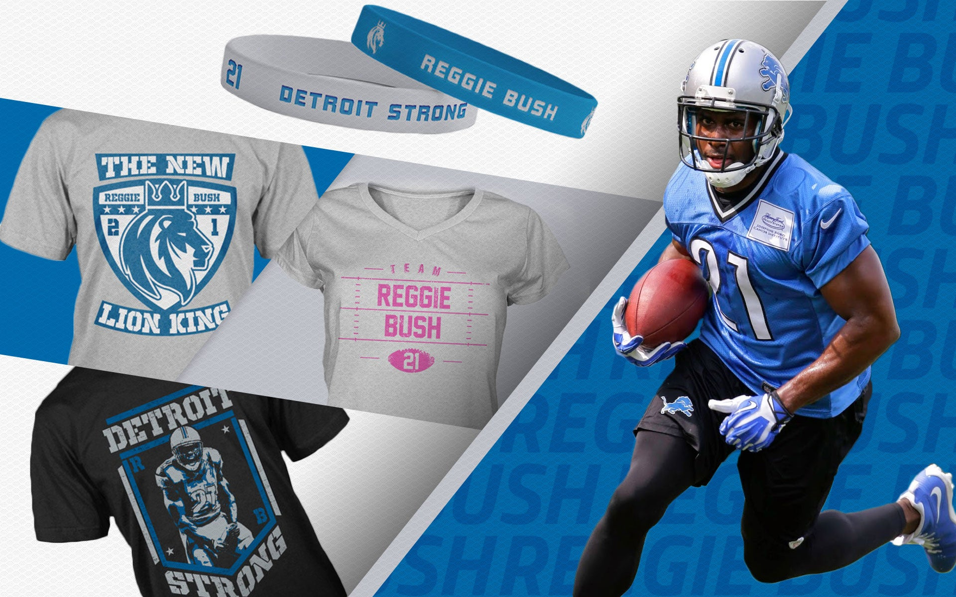 Reggie Bush Detroit Lions apparel