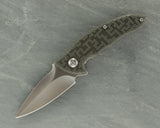 Brous Blades Custom Caliber Satin Blade w/Black and Grey CTEK