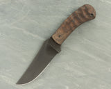 Winkler II Belt Knife with Sculpted Walnut Handle and Caswell Finish, Serrated