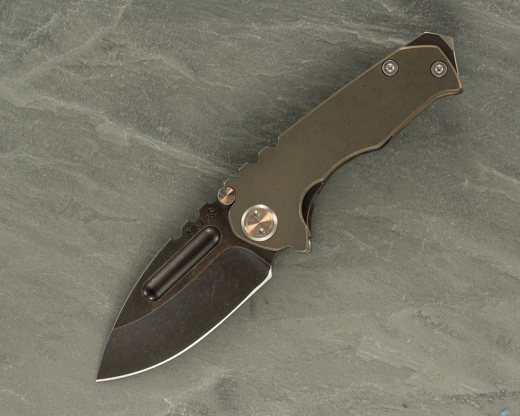 Medford Micro-Praetorian G with Bronze Ti/Flamed Handle and S35VN Black Blade