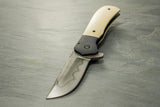 Doc Shiffer Custom Recon w/Hamon, Black Ti and Westinghouse Ivory Micarta