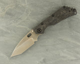 Duane Dwyer SMF Tanto w/ stepped Carbon Fiber Rag, Blue & Gold Lightening Ti