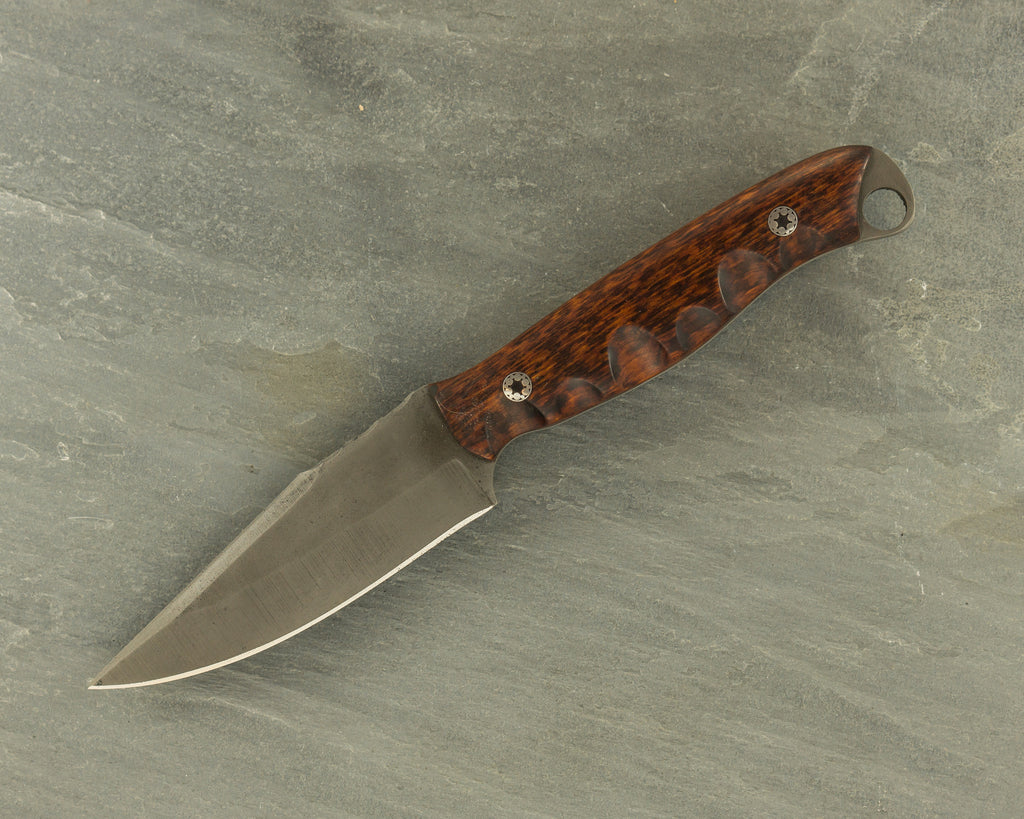 Half Face Blades Crow Scout Junior w/ cpmS35vn Steel; Snakewood Handle & Mosaic Pins