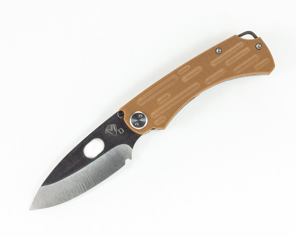 Medford Colonial G/T with Coyote G10, Tumbled D2 Droppoint