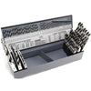 KnKut 115pc Jobber Length Drill Bit Set (#'s, Letters, Fractions)