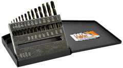 "KnKut 13pc Fractional Stubby (Short) Length Drill Bit Set 1/16""-1/4"" by 64ths"