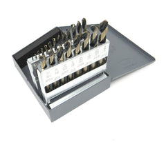 "KnKut 21pc Fractional Short Stubby Length Drill Bit Set 1/16""-3/8"" by 64ths"