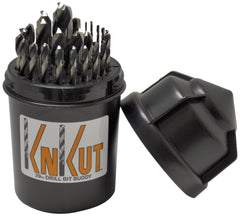 KnKut 29pc Fractional Jobber Length Drill Bit Buddy Set