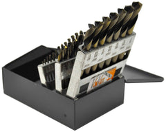 "KnKut 29pc Fractional Short Stubby Length Drill Bit Set 1/16""-1/2"" by 64ths"