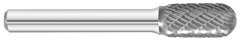"KnKut SC-3 Cylindrical Ball Nose Carbide Burr 3/8"" x 3/4"" x 2-1/2"" OAL with 1/4"" Shank"