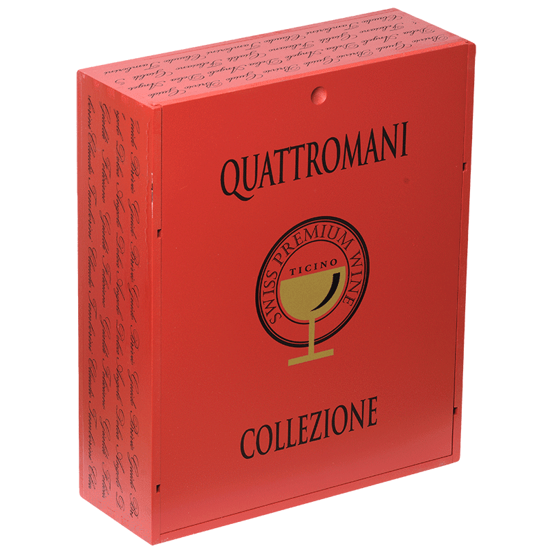 SWISS PREMIUM WINE Collection 1 pz Cassetta Quattromani (3927619600495)