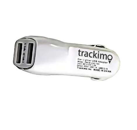 Trackimo Dual USB Car Lighter Charger Adapter with 3A Heavy Duty Output