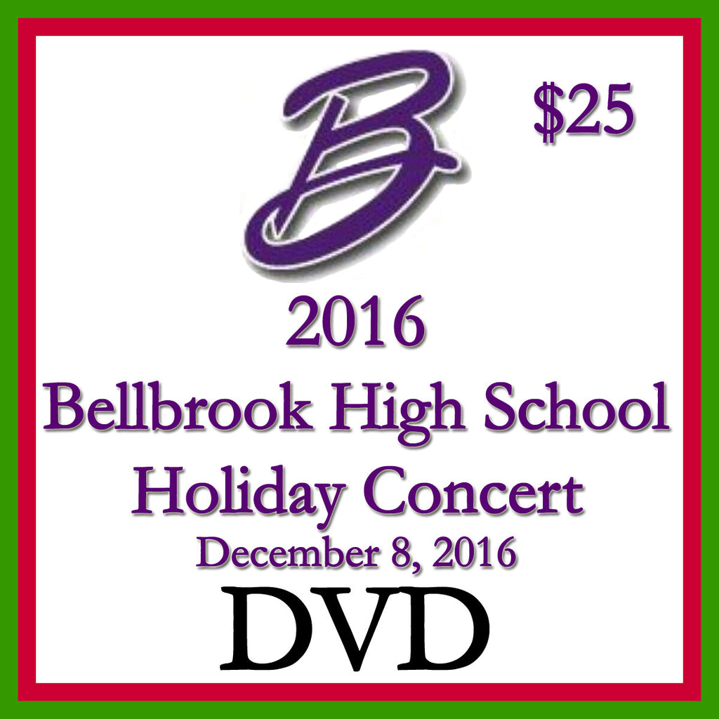 2016 Bellbrook High School Holiday Concert Video DVD