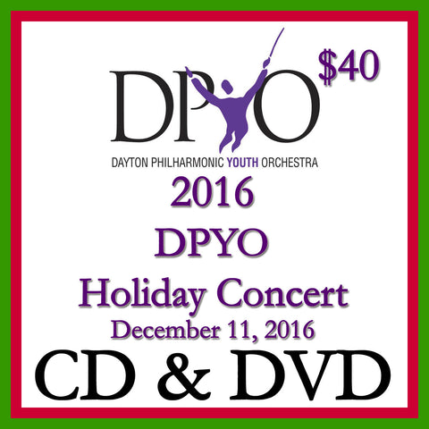 2016 DPYO Holiday Concert CD + DVD 2-Disk Set