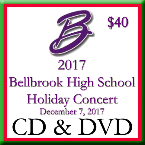2017 Bellbrook High School Holiday Concert CD and DVD 2-Disk Set