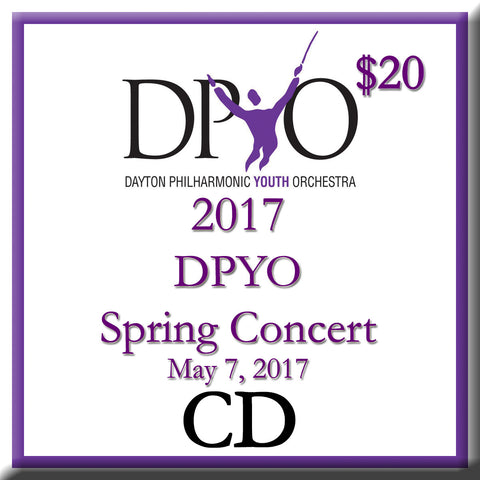 2017 DPYO Spring Concert Audio CD