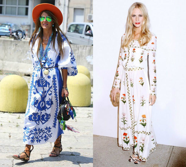 Voile Embroidered Dress Trend - On Street