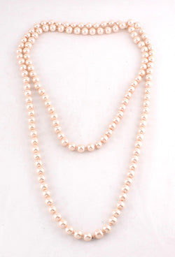 1920s Flapper Pearl Party Necklace - Champagne - The Deco Haus