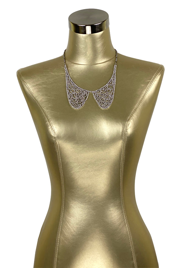 1930's Style Rhinestone Vintage Collar Necklace - The Deco Haus