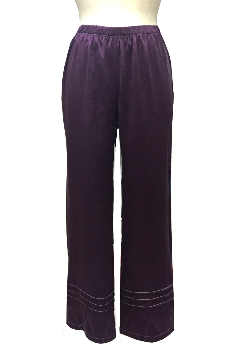 Vintage 1920's Art Deco 100% Silk Pajama Pants - Amethyst - The Deco Haus