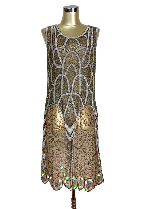 Art Deco Vintage Reproduction 1920's  Gown - The Cosmos - Gold