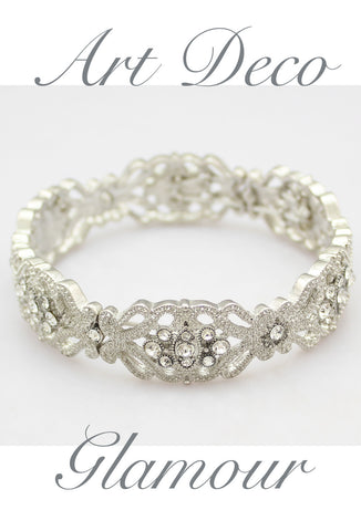Diamante Bracelet - Vintage Crystal Bangle
