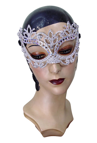 Diamante Rhinestone 1920's Gatsby Party Masquerade Mask