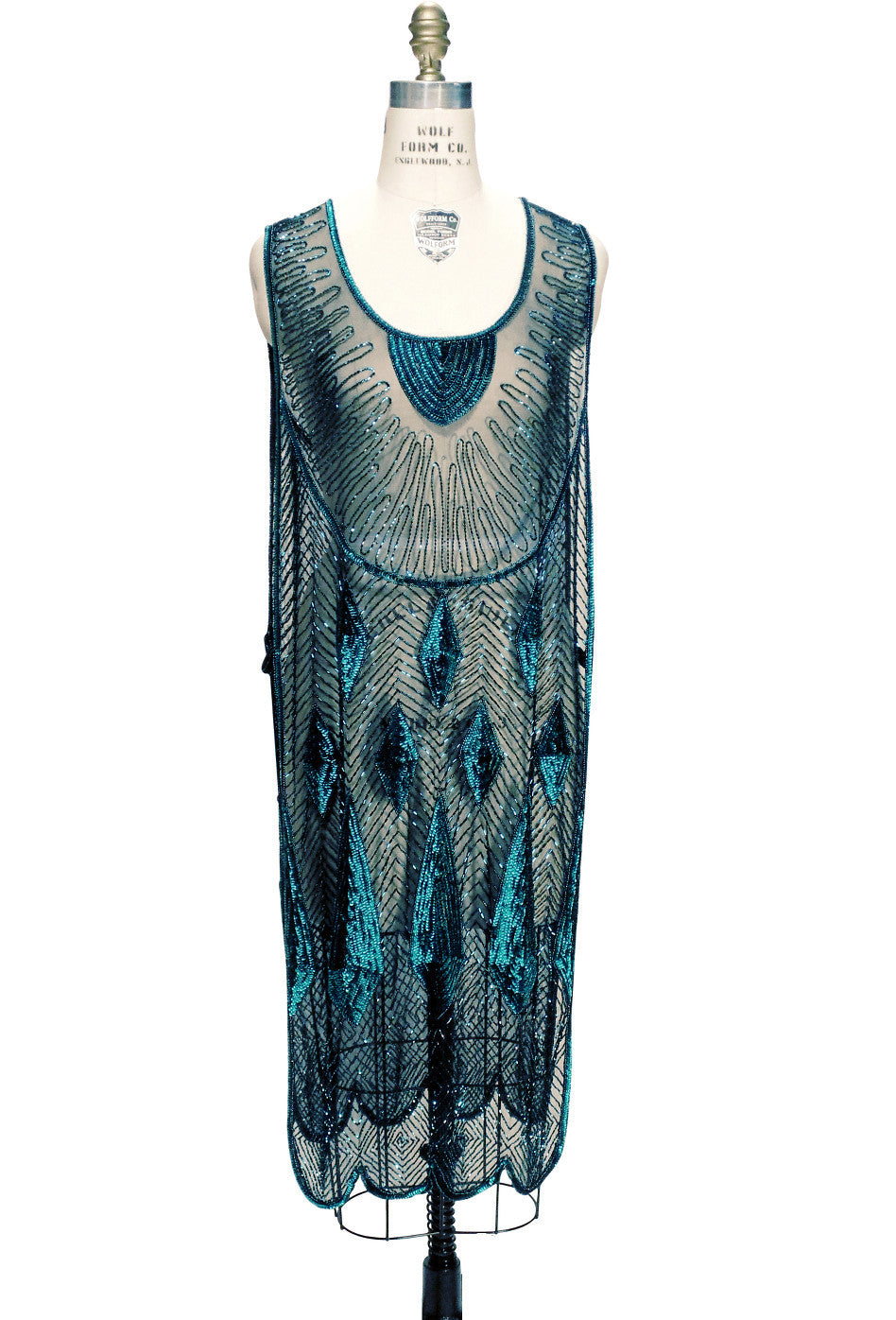 ... Beaded 1920s Tabard Gatsby Gown   The Bijou   Tourmaline Jet   The Deco  Haus ...