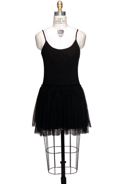 Tulle Ballerina Slip Dress - Black - The Deco Haus