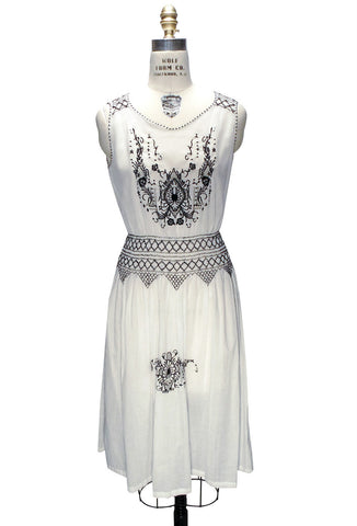 The Heirloom Dress - Black on White