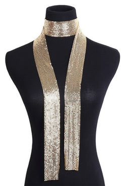 Deco Essential - 100% Metallic Deco Mesh Long Tie Scarf