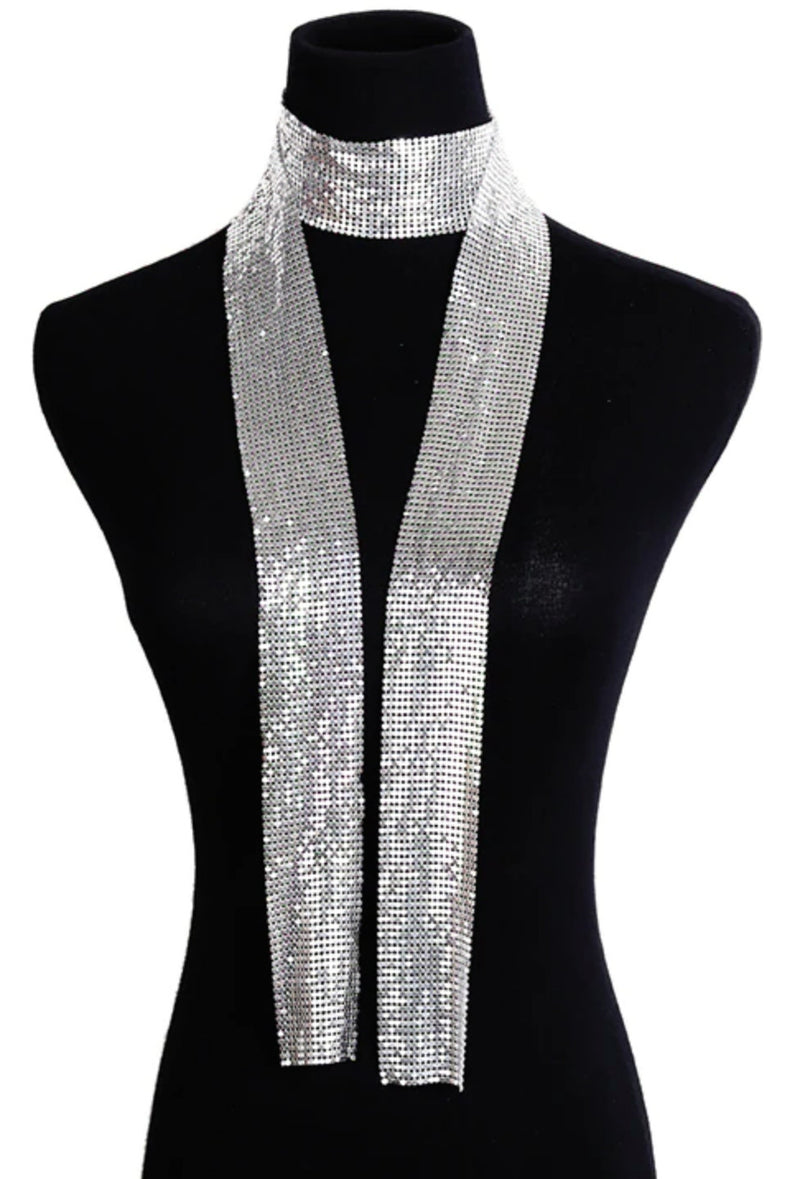 Deco Essential - 100% Metallic Deco Mesh Long Tie Scarf - The Deco Haus