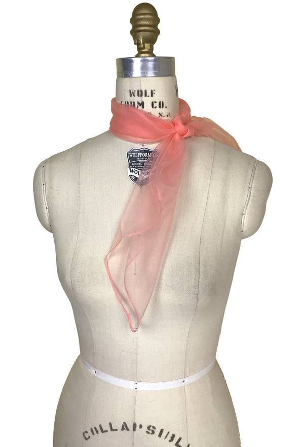 Deco Essential - Square Chiffon Audrey Scarf Neck Tie - The Deco Haus