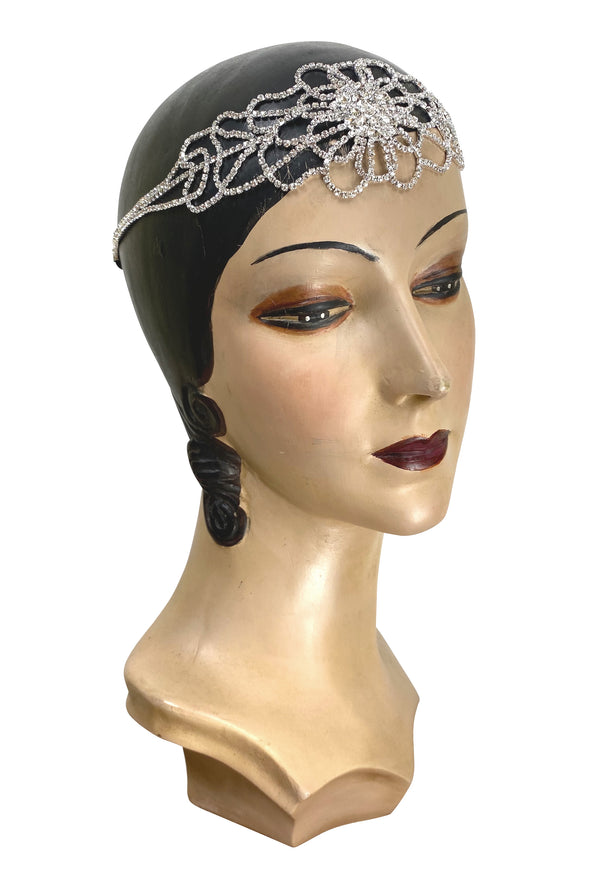 Diamante Vintage Style 1920's Flapper Headband - The Deco Tiffany - The Deco Haus
