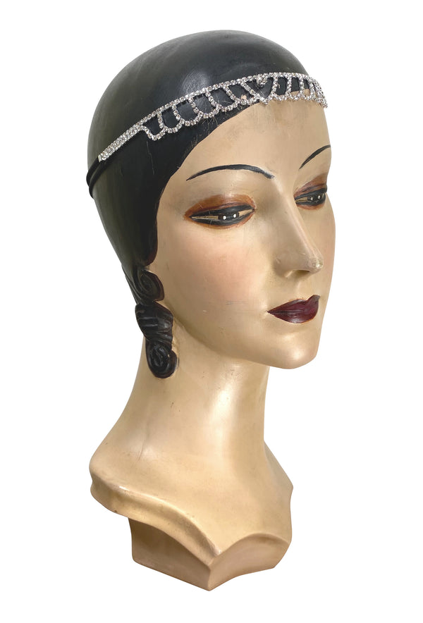 Diamante Vintage Style 1920's Flapper Headband - The Delphine - The Deco Haus