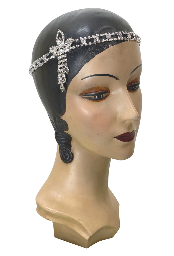 Diamante Vintage Style 1920's Flapper Headband - The Josephine - The Deco Haus