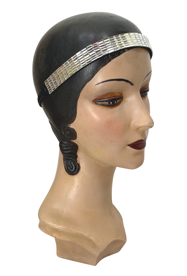 Diamante Rhinestone Vintage Style 1920's Flapper Headband - Mosaic - The Deco Haus