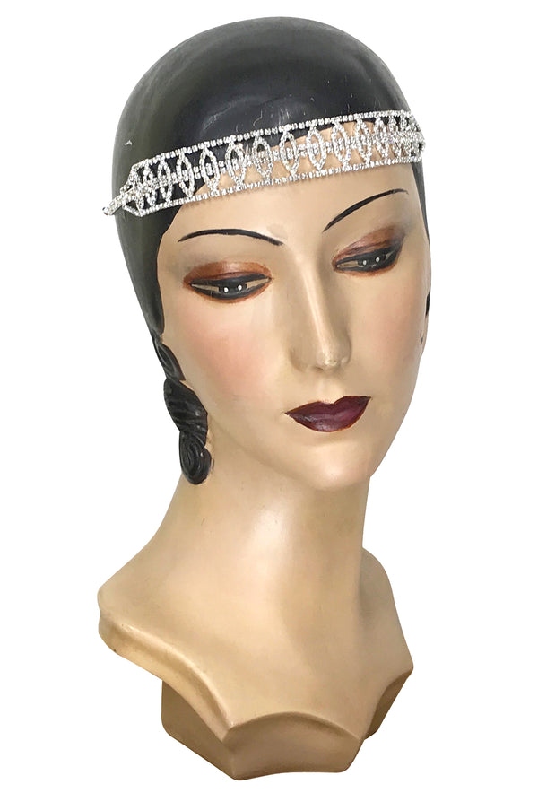 Diamante Vintage Style 1920's Flapper Headband - The Duchess