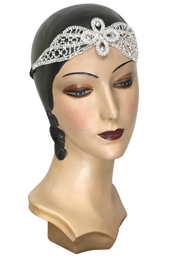 Diamante Vintage Style 1920's Flapper Headband - The Viscountess - The Deco Haus