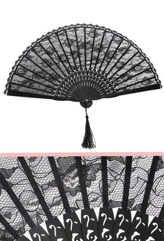 Flamenco Lace Fan - Black