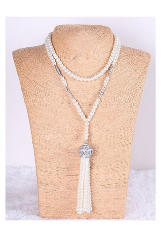 The Daisy Pearl Rope Necklace