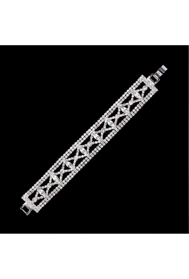 Gatsby Vintage 1920's Style Diamante Bracelet - The Lattice