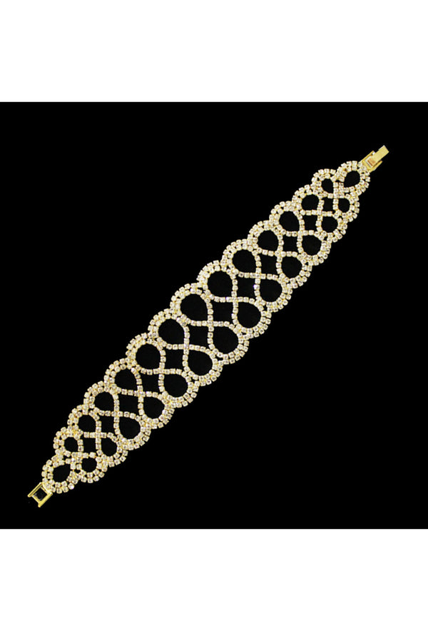 Gatsby Vintage 1920's Style Diamante Bracelet - The Gold Infinity
