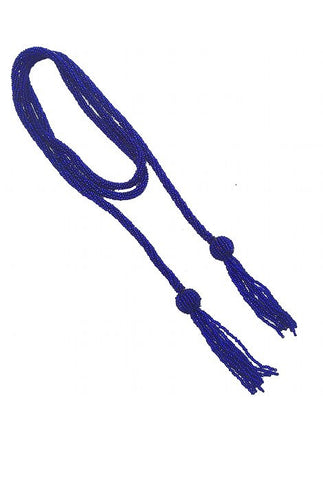 The Gatsby Rope Necklace - Cobalt